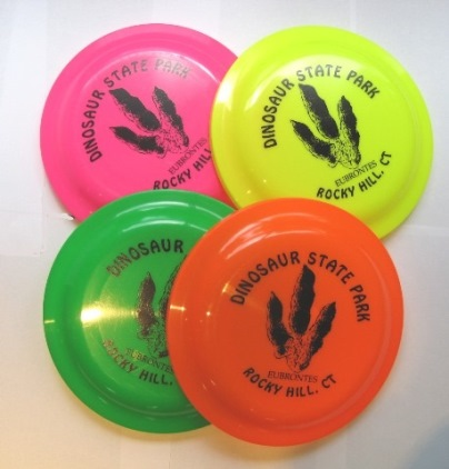frisbees with Dinosaur Park name