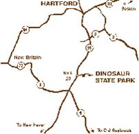 Map of Central Connecticut