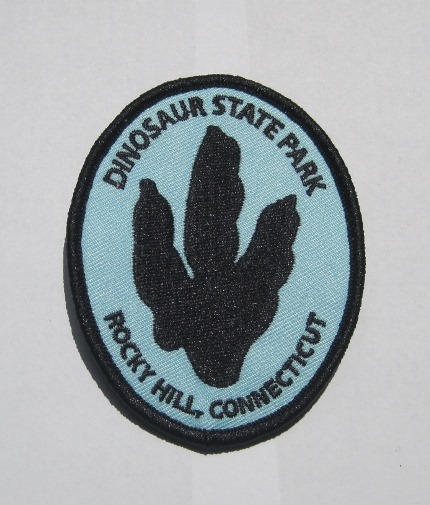 Embroidered patch with Eubrontes track